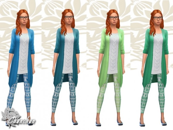 Christmas Top and Leggings by Chanchan24 at Sims Artists image 1187 670x503 Sims 4 Updates