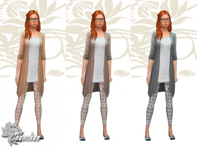Christmas Top and Leggings by Chanchan24 at Sims Artists image 1197 670x503 Sims 4 Updates