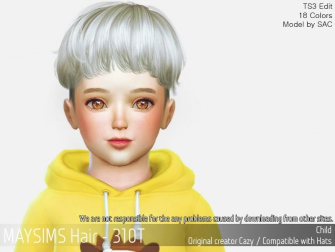 Hair 310T (Cazy) at May Sims image 12117 670x503 Sims 4 Updates