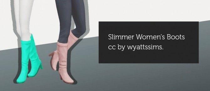 SLIMMER WOMEN'S BOOTS at Wyatts Sims image 12212 670x290 Sims 4 Updates