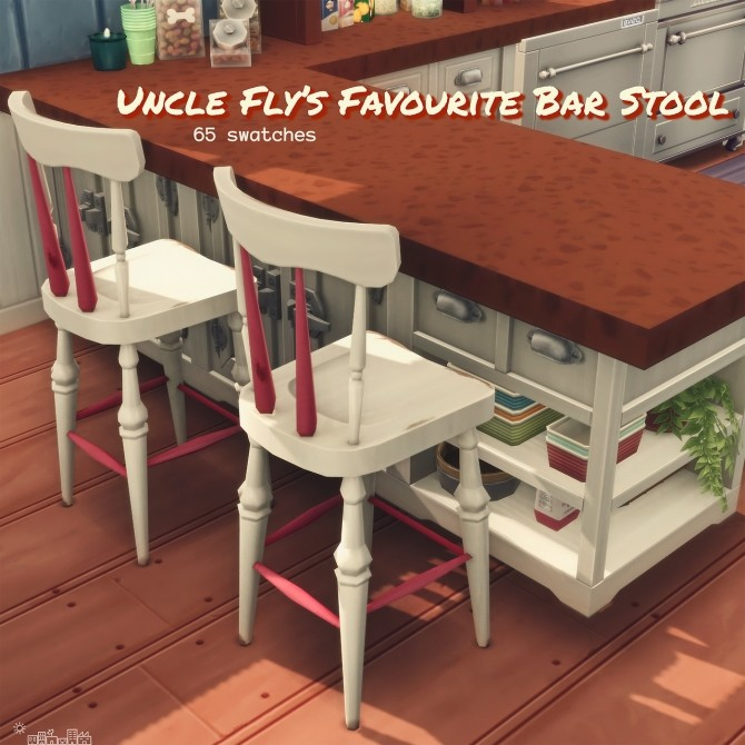 Recolours of the shabby wooden chair and bar stool at Picture Amoebae image 1242 670x670 Sims 4 Updates