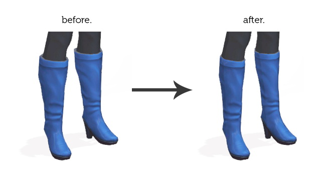 Sims 4 SLIMMER WOMEN'S BOOTS at Wyatts Sims
