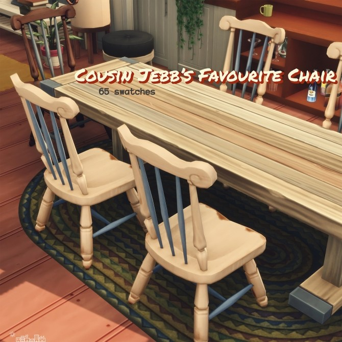 Recolours of the shabby wooden chair and bar stool at Picture Amoebae image 1252 670x670 Sims 4 Updates