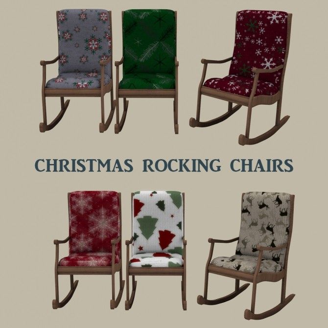 Sims 4 Christmas Rocking Chair at Leo Sims