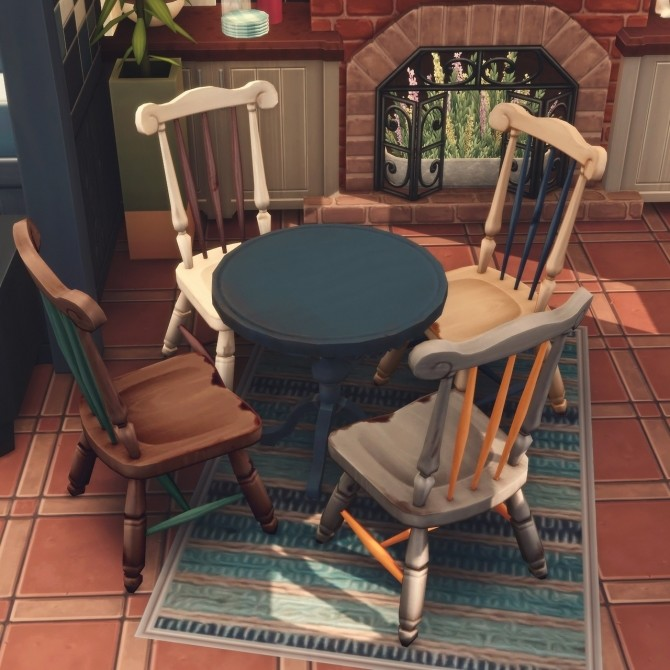 Recolours of the shabby wooden chair and bar stool at Picture Amoebae image 1262 670x670 Sims 4 Updates
