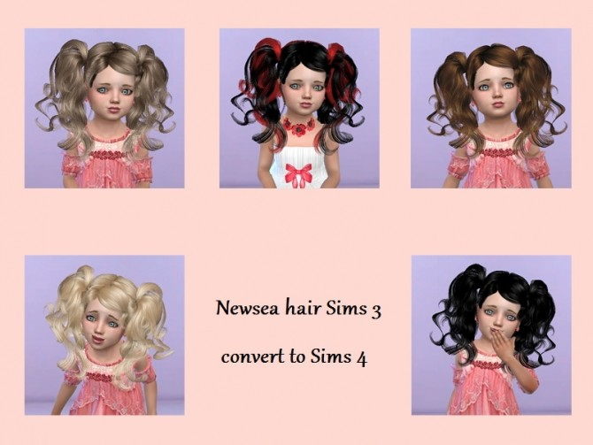Sims 4 T55 Newsea hair convert for toddlers at Trudie55