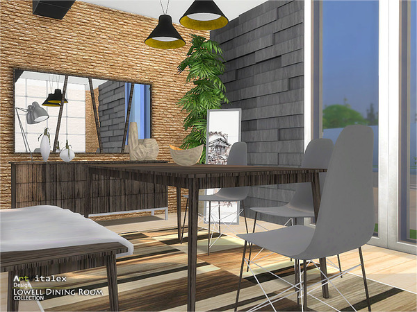 Lowell Dining Room by ArtVitalex at TSR image 12811 Sims 4 Updates