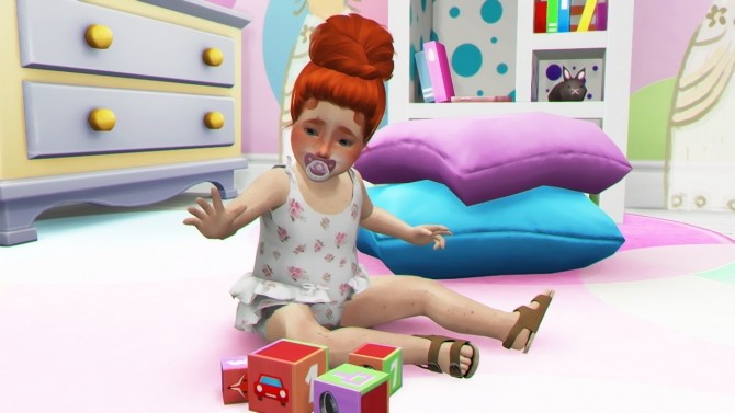 HALLOWSIMS SKYSIMS128 HAIR TODDLER by REDHEADSIMS image 1292 670x377 Sims 4 Updates