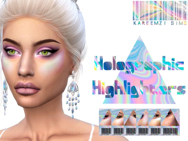 Sims 4 Holographic Highlighters by KareemZiSims at TSR