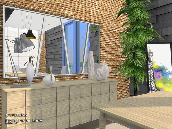 Lowell Dining Room by ArtVitalex at TSR image 1309 Sims 4 Updates