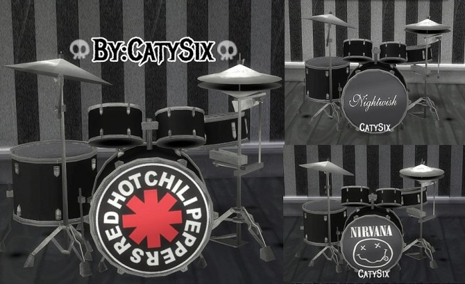 Playable Drums V1 at CatySix image 1322 670x409 Sims 4 Updates