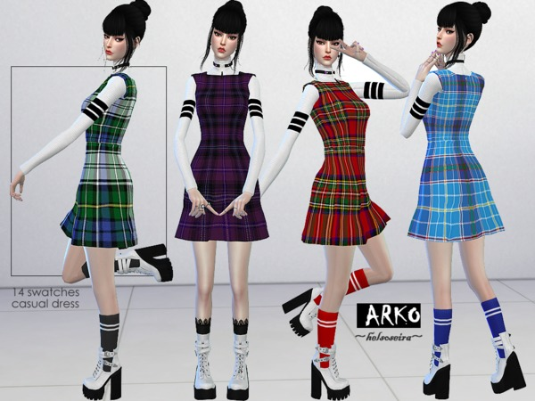 ARKO FM Casual Dress by Helsoseira at TSR image 1325 Sims 4 Updates
