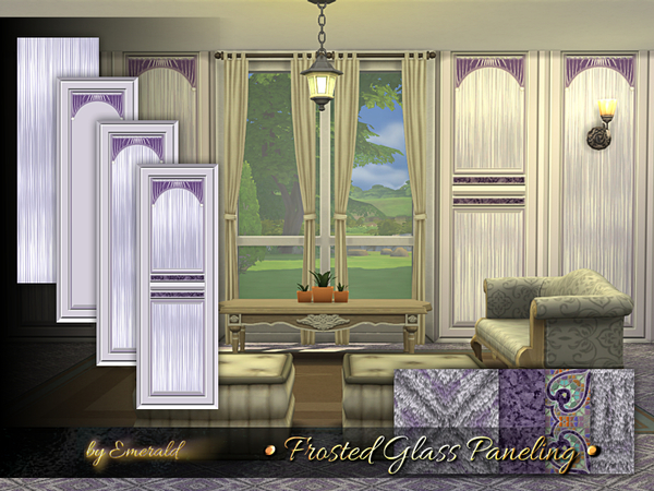 Sims 4 Frosted Glass Paneling by emerald at TSR