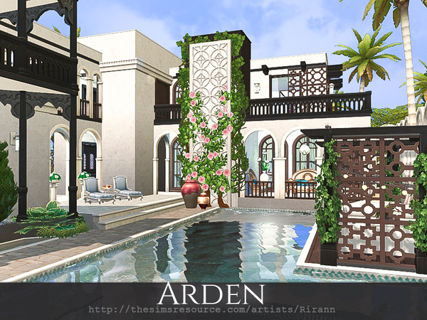 Sims 4 Arden house by Rirann at TSR