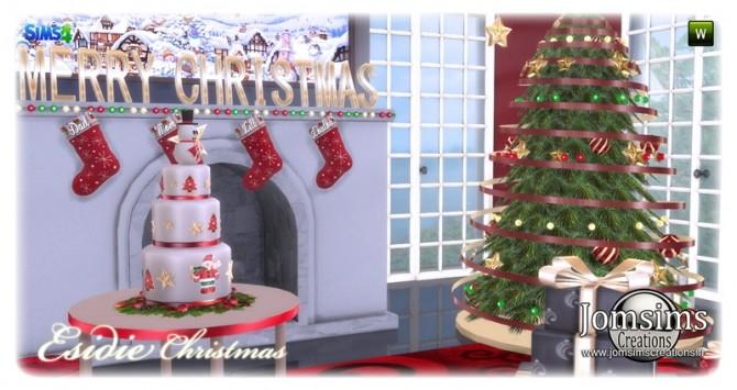 Sims 4 Esidie Christmas set at Jomsims Creations