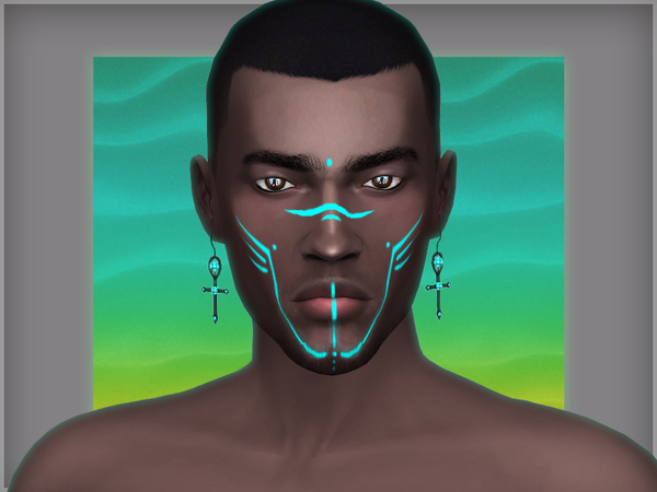 Andromeda face tattoos by WistfulCastle at TSR image 13610 Sims 4 Updates