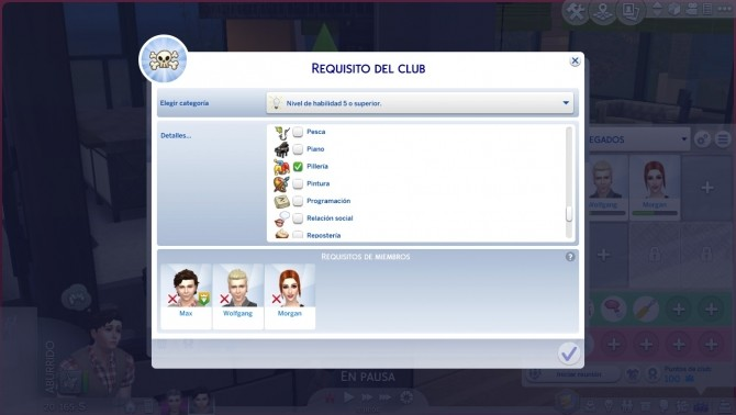 Higher skill level threhold like rule for join a club by edespino at Mod The Sims image 1371 670x378 Sims 4 Updates
