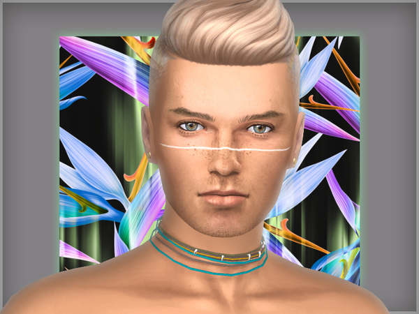 Andromeda face tattoos by WistfulCastle at TSR image 1379 Sims 4 Updates