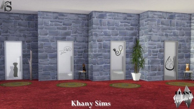 Sims 4 Decorative doors for Cats and Dogs at Khany Sims