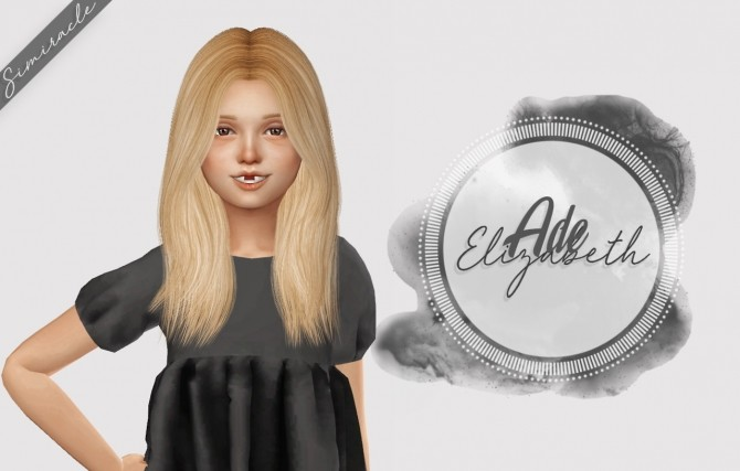 Sims 4 Ade Elizabeth Hair Kids Version at Simiracle