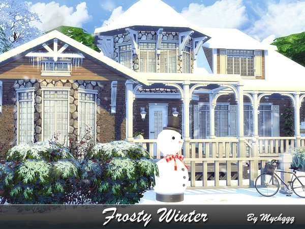 Sims 4 Frosty Winter house by MychQQQ at TSR