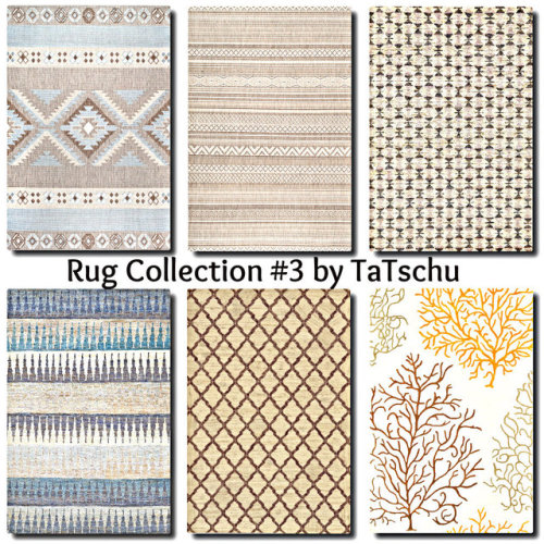 Sims 4 Contemporary Rug Collection at TaTschu`s Sims4 CC