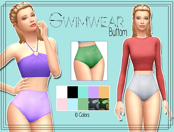 Sims 4 Swimsuit bottom #1 at Kass