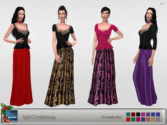 Sims 4 Set Christmas at Elfdor Sims