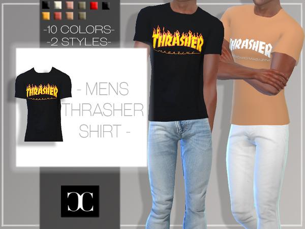 Sims 4 Mens Thrasher Shirts by cosimetics at TSR