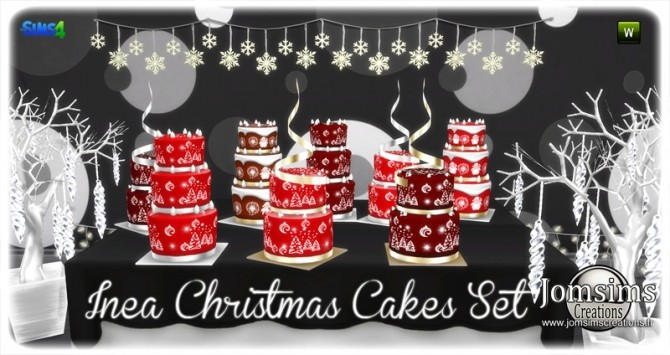Inea cakes set at Jomsims Creations image 1465 670x355 Sims 4 Updates