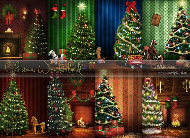 Sims 4 Christmas Wonderland Backgrounds at Lorelea