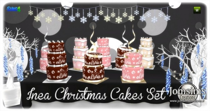 Inea cakes set at Jomsims Creations image 1475 670x355 Sims 4 Updates