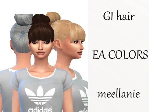 Sims 4 Gi hair at Meellanie