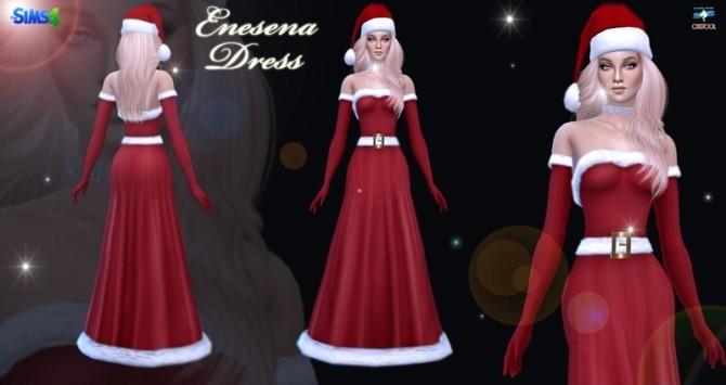 Enesena Long Christmas Dress At Jomsims Creations 187 Sims 4