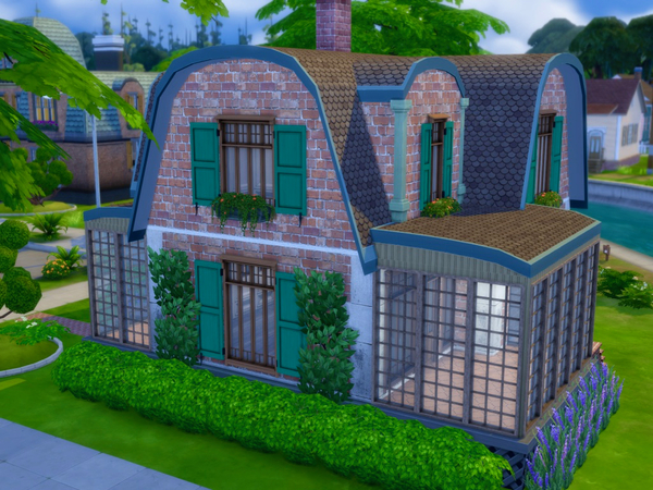 Sims 4 Willow house by QubeDesign at TSR