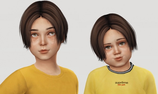Sims 4 Wings Os1215 Hair for Kids & Toddlers at Simiracle