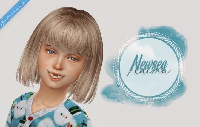 Sims 4 NewSea Naima Hair Kids Version at Simiracle