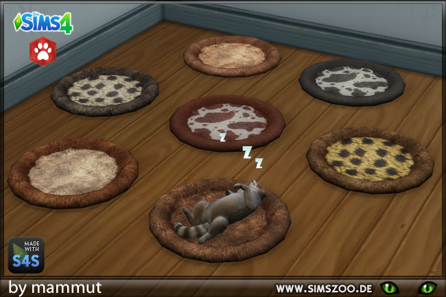 Sims 4 Pet Bed S Fur by mammut at Blacky's Sims Zoo