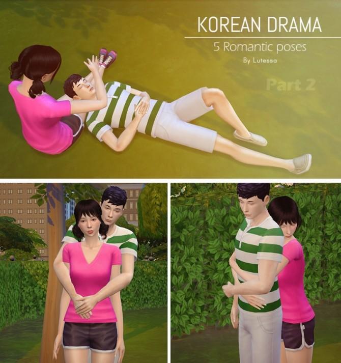 Sims 4 Korean drama romantic poses 2 at Lutessa