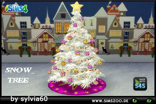 Sims 4 Snow Tree by sylvia60 at Blacky's Sims Zoo