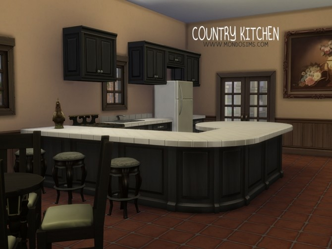 Sims 4 Country Kitchen by Simone at Mondo Sims