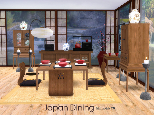 Japan Dining by ShinoKCR at TSR image 1548 Sims 4 Updates