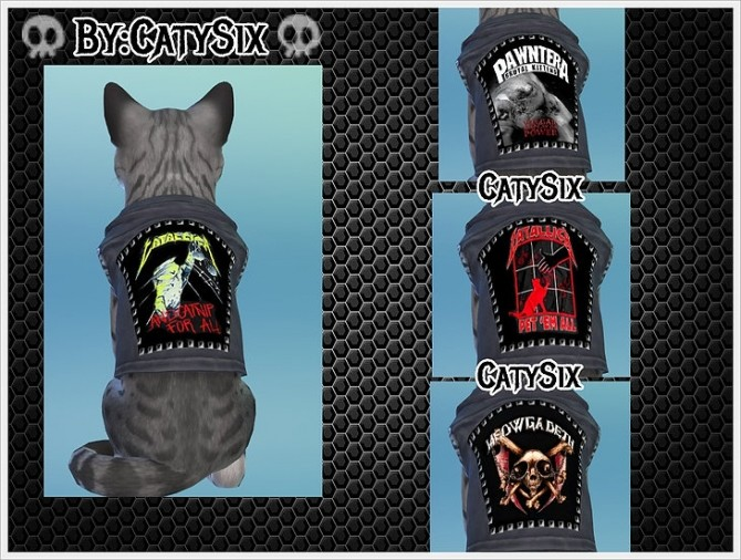 Sims 4 Ready to rock Cats Clothes VOL3 at CatySix