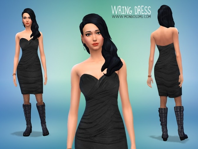Sims 4 Wring Dress by Simone at Mondo Sims
