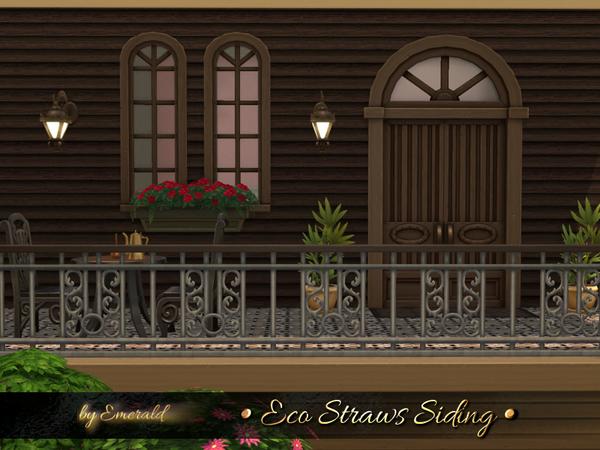 Sims 4 Eco Straws Siding by emerald at TSR