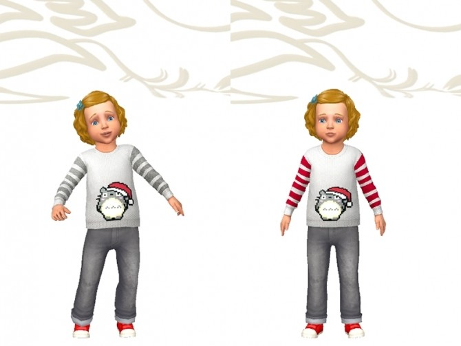 Sims 4 Mapy sweater by Fuyaya at Sims Artists