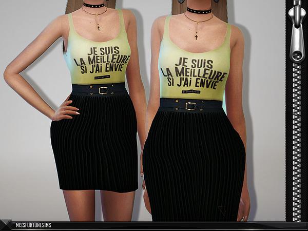 Sims 4 MFS Greta Dress by MissFortune at TSR