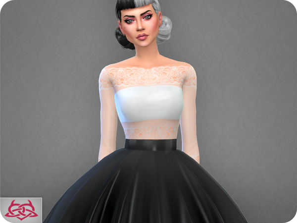 Sims 4 Silvia Top RECOLOR 1 by Colores Urbanos at TSR