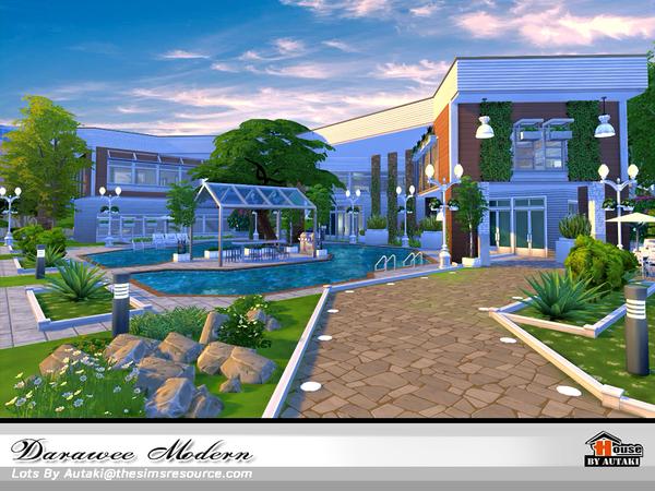 Sims 4 Darawee Modern house by autaki at TSR