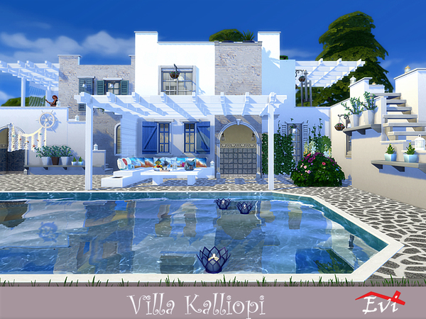Sims 4 Villa Kalliopi by evi at TSR